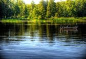 Lake in serock, warsaw, poland — Stock Photo