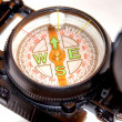 Compass on white background can symbolize strategy or direction — Stock Photo