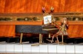 Piano figurine — Stock Photo