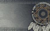 Americký dreamcatcher šedá — Stock fotografie
