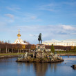 Stock Photo: Neptune fountain in the park, Petergof Russia