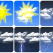 Weather Icons — Stock Photo