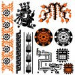 Mayan patterns — Stock Vector