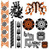 Mayan patterns — Stock Vector