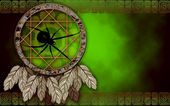 Dreamcatcher mit spinne — Stockfoto