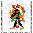 Mayan warrior on white — Stock Vector