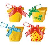 4 vector gift boxes — Stock Vector