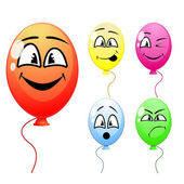 Balloons with funny faces — Stock Vector