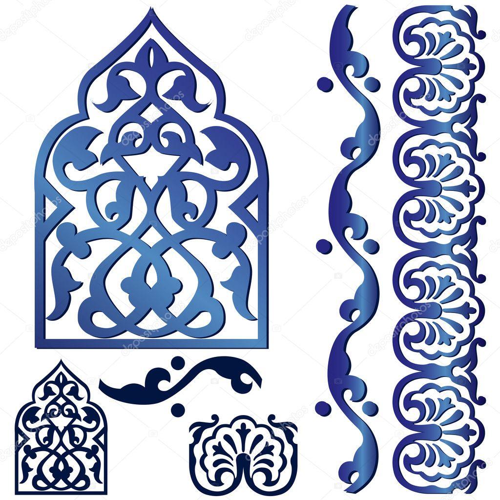 Vector islamic design element - Stock Illustration