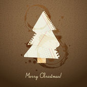 Ripped paper Christmas design — Stock Vector