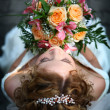 Young beautiful bride — Stockfoto