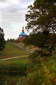 Orthodoxe liegt im Wald — Stockfoto