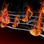 Burning music — Stock Photo