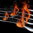 Burning music - Stock Photo