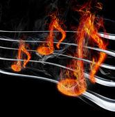 Burning music — Stockfoto