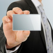 Card blank in a hand — Stock Photo