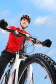 Portrait of a cyclist. — Stock Photo