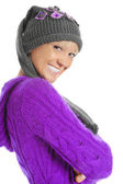Young woman in winter style — Stock Photo