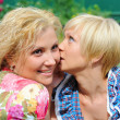 Girlfriends talking, gossips in secret — Stock Photo #6949704