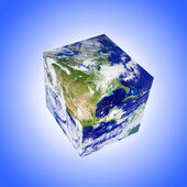 Earth square globe — Stock Photo