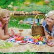 Young women in a park — Stock Photo