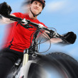 Portrait of a cyclist. — Stock Photo