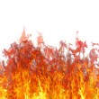 Fire flame with smoke. — Stock Photo
