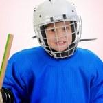 Little Boy Hockey Player — Stock Photo #7469013