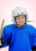 Little Boy Hockey Player — Stock Photo