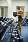 Bodybuilder showing his muscles — Stock Photo