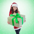 Christmas Smiling Woman — Stockfoto