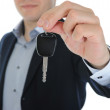 Businessman gives the keys to the car — Stock Photo