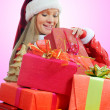 Stock Photo: Christmas Smiling Woman