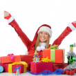 Christmas Smiling Woman — Stock Photo #7724712
