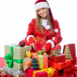 Christmas Smiling Woman — Stock Photo #7724738
