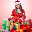 Christmas Smiling Woman — Foto Stock
