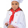 Little Chef in uniform. - Photo