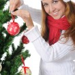 Beautiful christmas girl. — Foto Stock