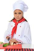 Pequeno chef de uniforme. — Foto Stock