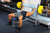 Man in the gym — Foto Stock