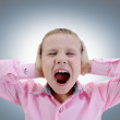 Angry little boy — Stock Photo