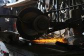 Abrasive disk machine — Stock Photo