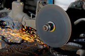 Abrasive disk machine — Stock Photo