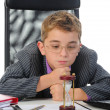 Young businessman using a laptop — Stock Photo #7900363