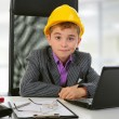 Young businessman using a laptop — Stock Photo #7901195
