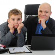 Young businessman using a laptop — Stock Photo #7903489