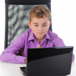 Boy at the computer — Stock Photo #7903608
