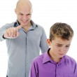 Strict father punishes his son — Stock Photo #7904106