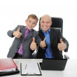 Young businessman using a laptop — Stock Photo #7904121