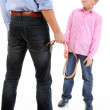 Strict father punishes his son — Stock Photo #7906102